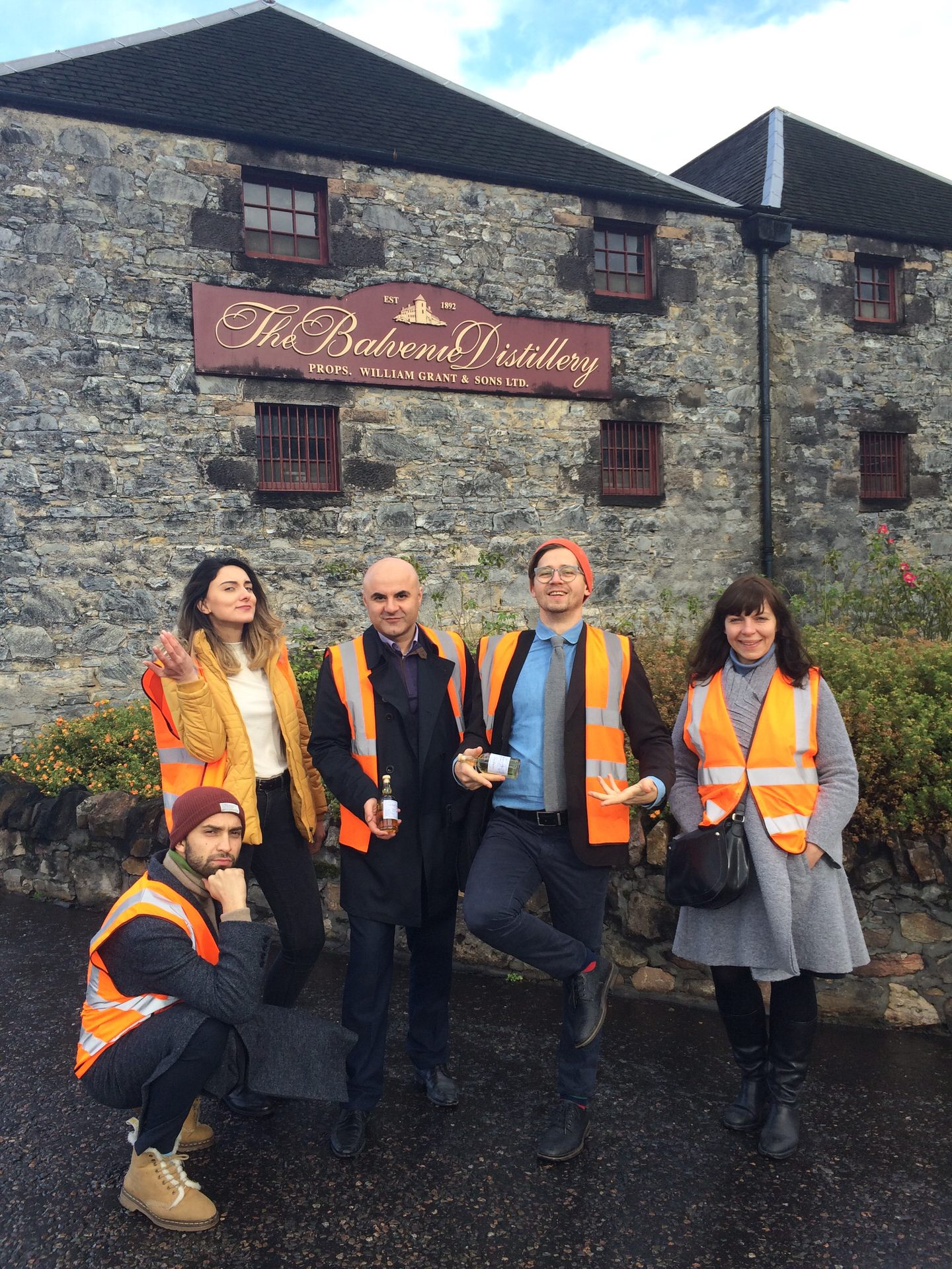 a press tour to William Grant & Sons whisky distillery in Scotland