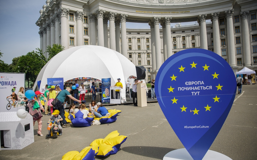 Celebration of Europe Day in Ukraine